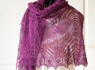 Muscari-rectanlge-lace-shawl