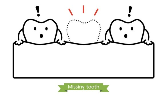missing-tooth-cartoon-outline-style-vector-14460365